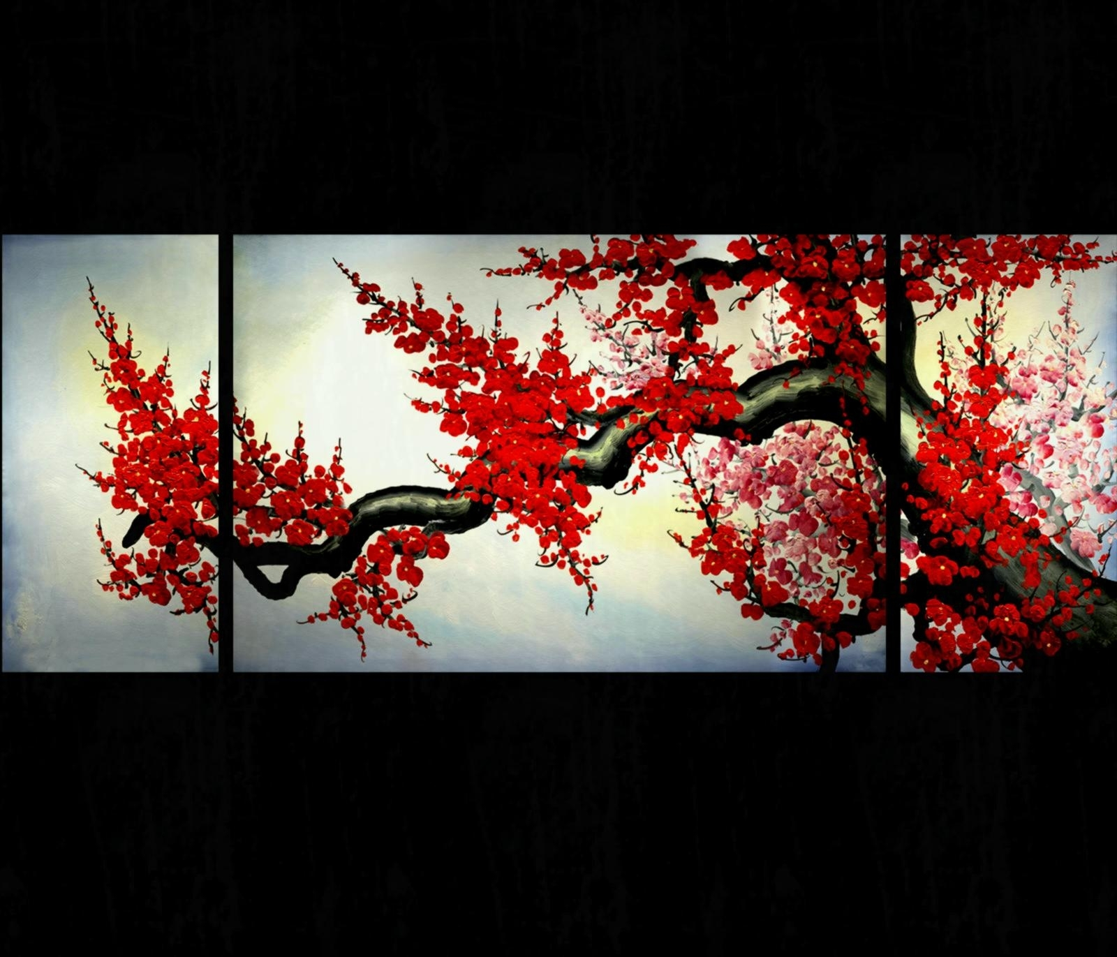 Asian Wall Art Painting Artwork - Creative Living Room Ideas with Asian Wall Art (Image 7 of 20)
