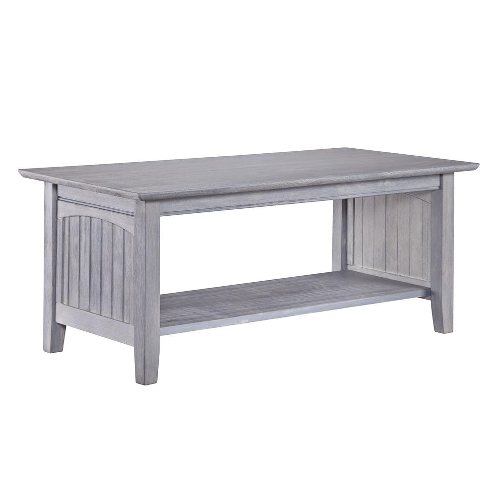 Atlantic Furniture Nantucket Driftwood Grey Coffee Table-Ah15308 pertaining to Element Ivory Rectangular Coffee Tables (Image 3 of 30)