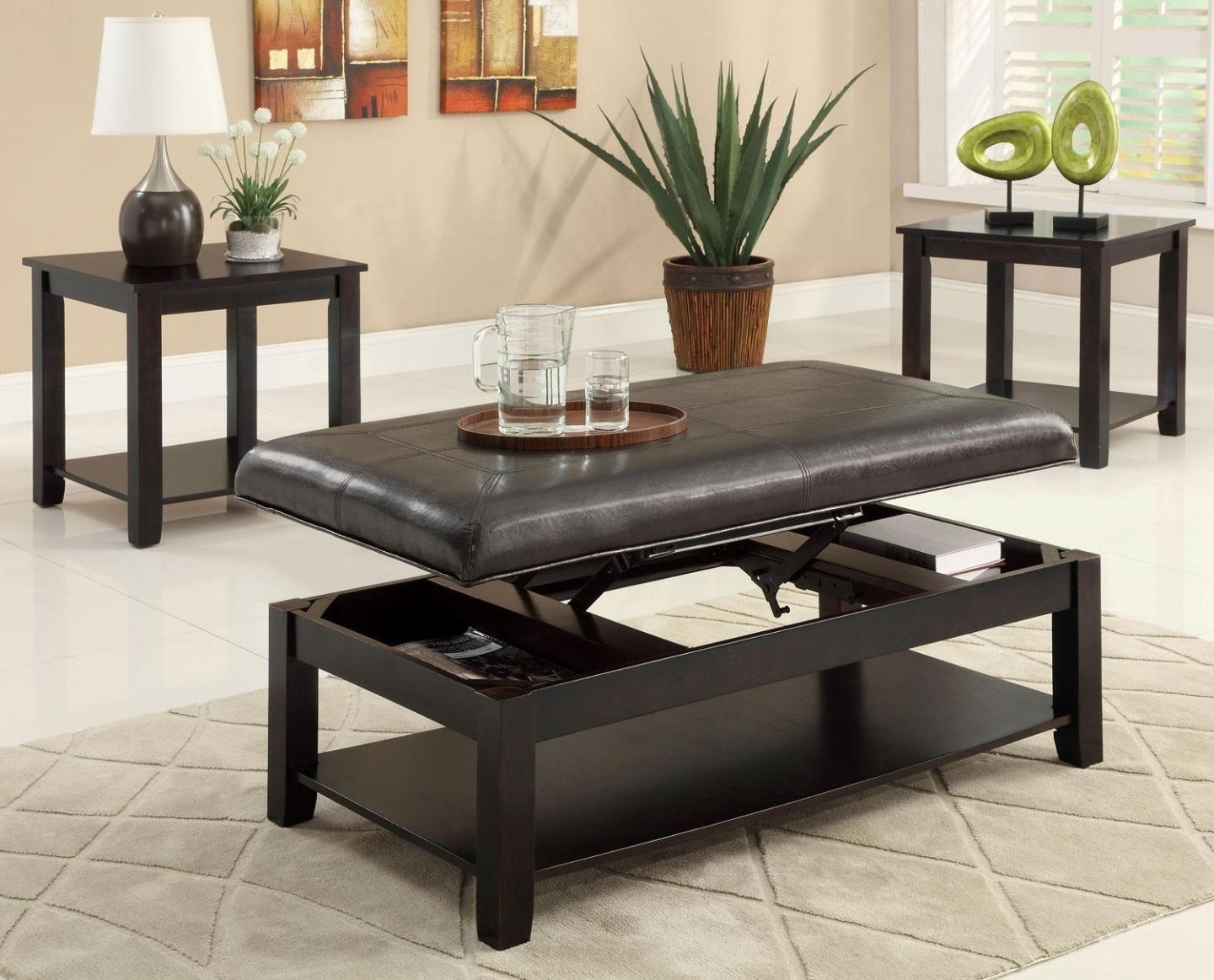 Attractive Lift Top Coffee Table Black With Smart Lift Top Coffee Intended For Smart Glass Top Coffee Tables (View 4 of 30)