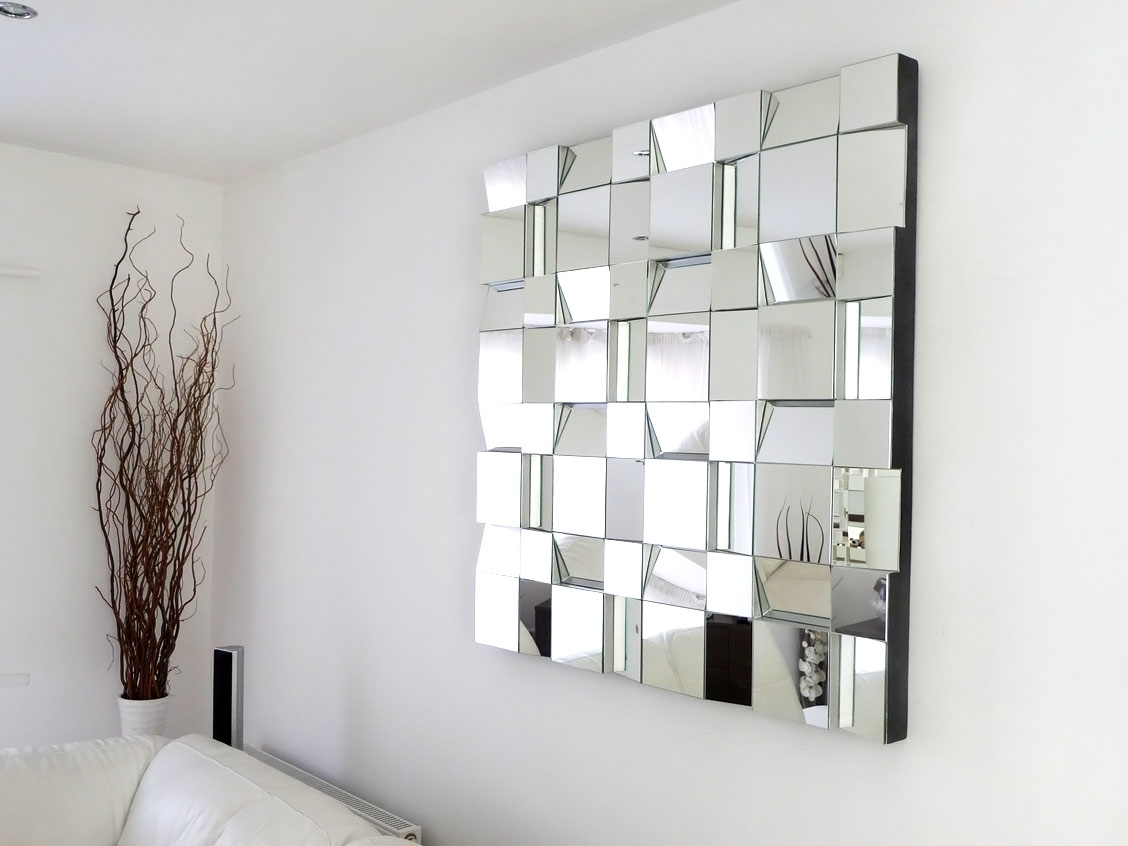 Attractive Mirrored Wall Decor Modern Mosaic Mirror Doherty House throughout Mirrored Wall Art (Image 3 of 20)