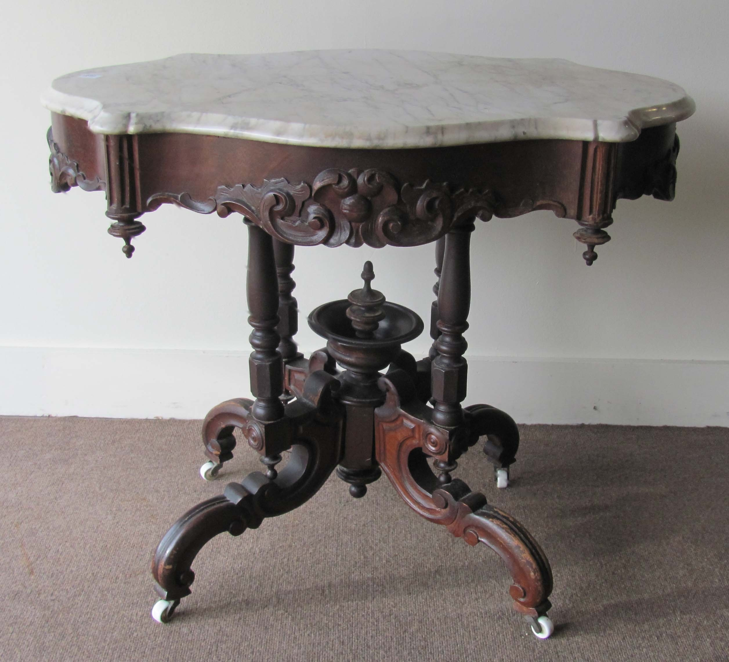 Auction Of Estate Antiques pertaining to Jackson Marble Side Tables (Image 4 of 30)