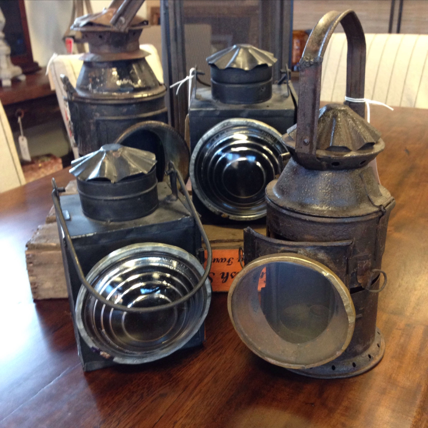 Authentic Antique Railroad Lanterns – Kudzu Antiques within Outdoor Railroad Lanterns (Image 5 of 20)