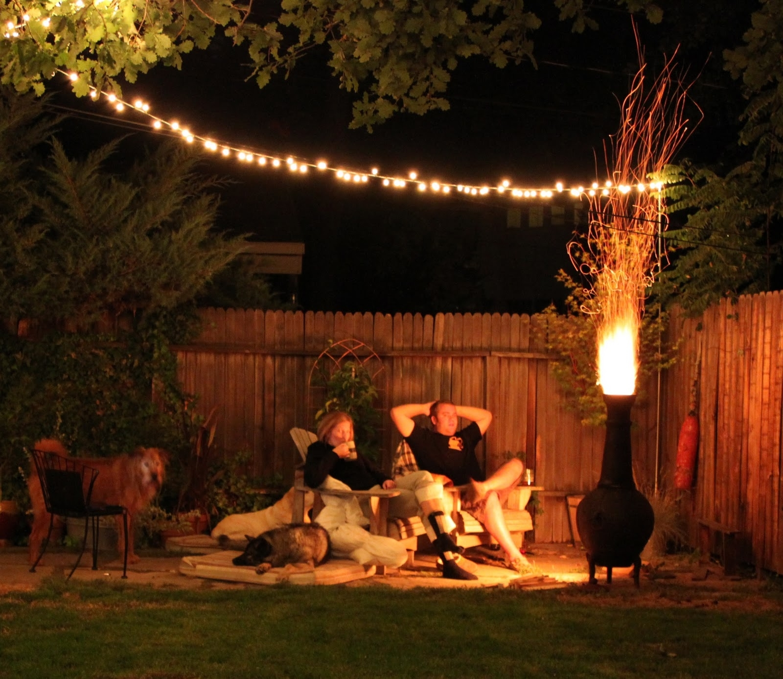 Awasome Outdoor Patio String Lights : Life On The Move - How To Make with Outdoor Lanterns On String (Image 2 of 20)