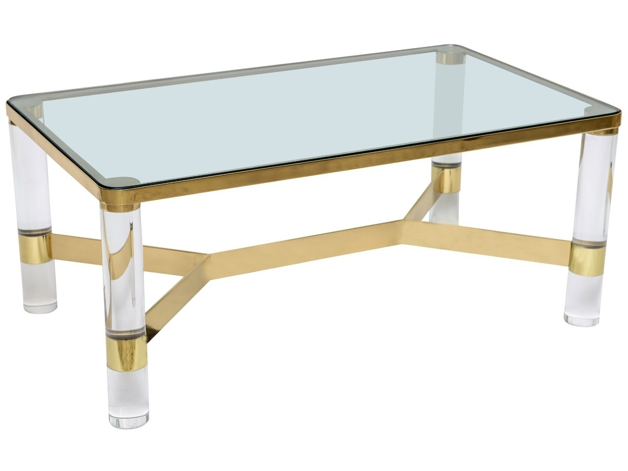 Awesome Plexiglass Coffee Table With A Clear Choicemodern Brass within Peekaboo Acrylic Coffee Tables (Image 10 of 30)