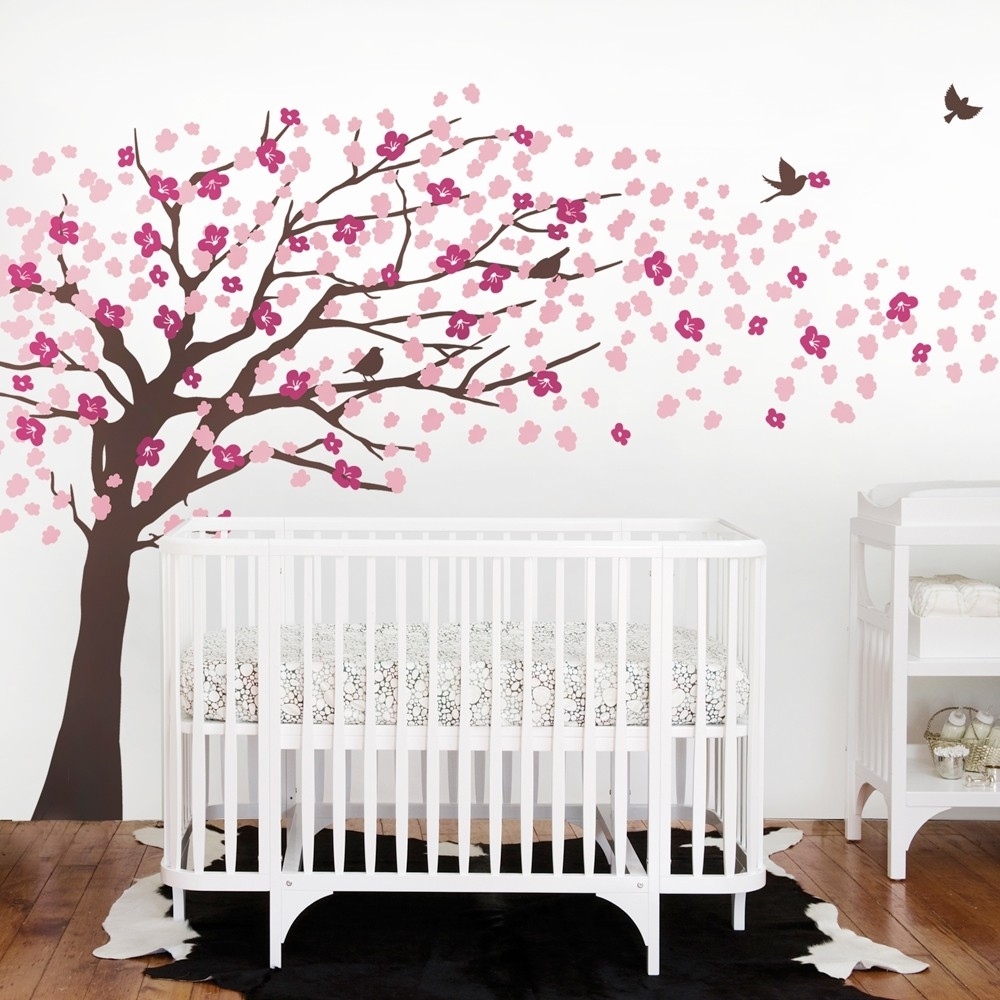 Baby Room Cherry Blossom Wall Art : Andrews Living Arts - Very throughout Cherry Blossom Wall Art (Image 6 of 20)