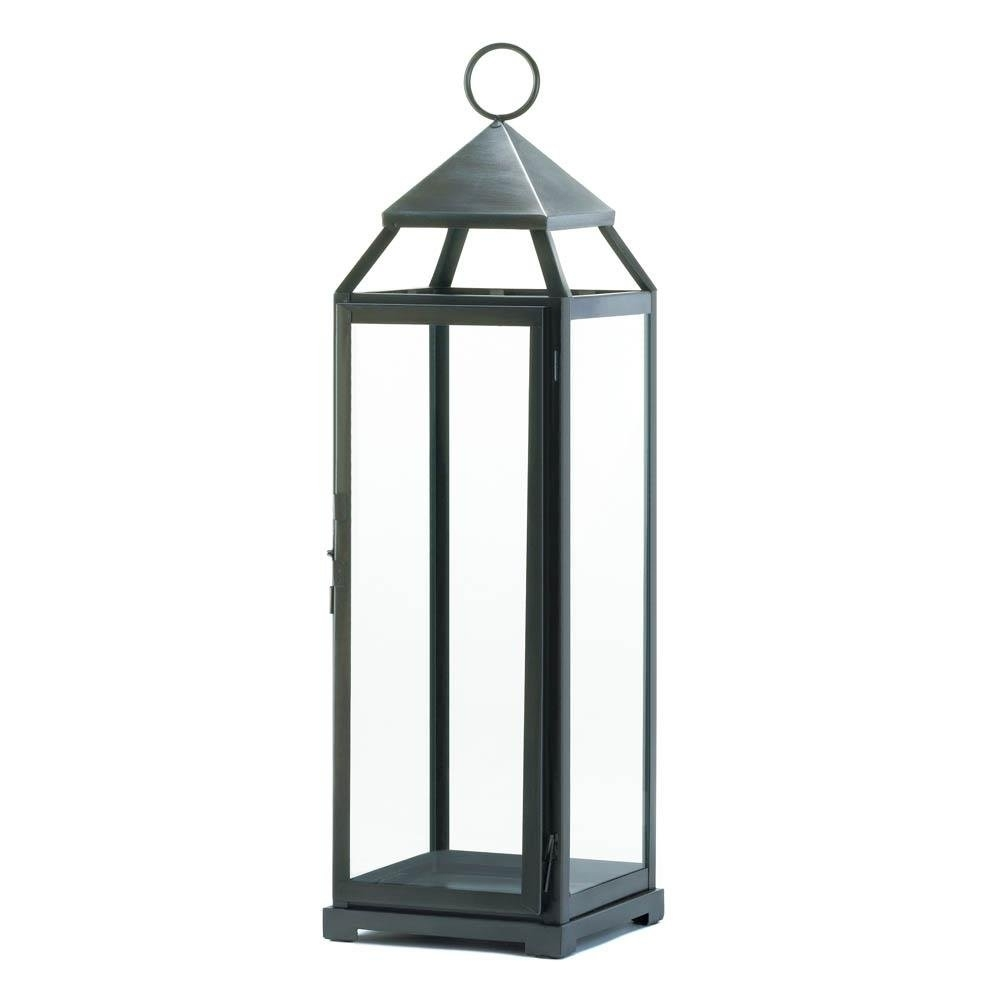 Backyard Lanterns, Silver Extra Tall Metal Decorative Floor Patio With Regard To Tall Outdoor Lanterns (View 2 of 20)
