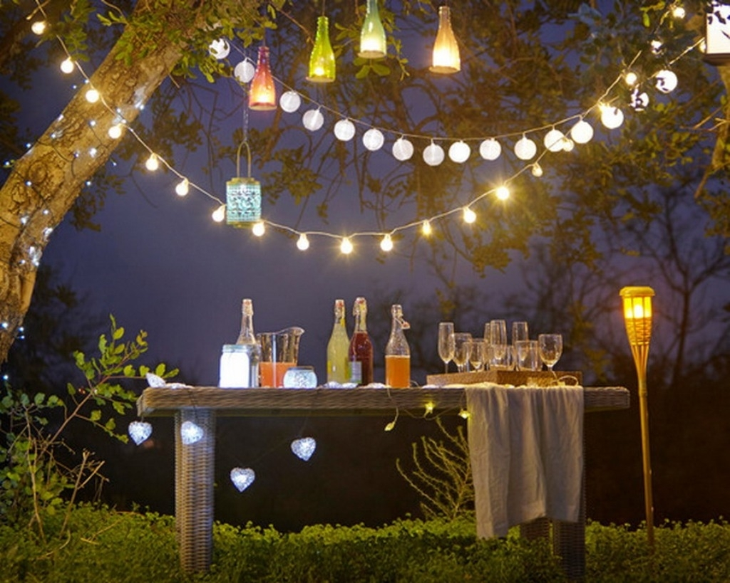 Backyard Party Lighting Contemporary Wine Bottle Candle Set Then with Outdoor Lanterns For Parties (Image 2 of 20)