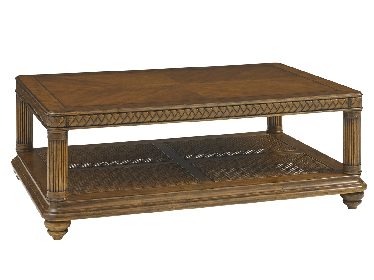 Bali Hai Vineyard Point Rectangular Cocktail Table | Lexington Home Throughout Element Ivory Rectangular Coffee Tables (View 17 of 30)