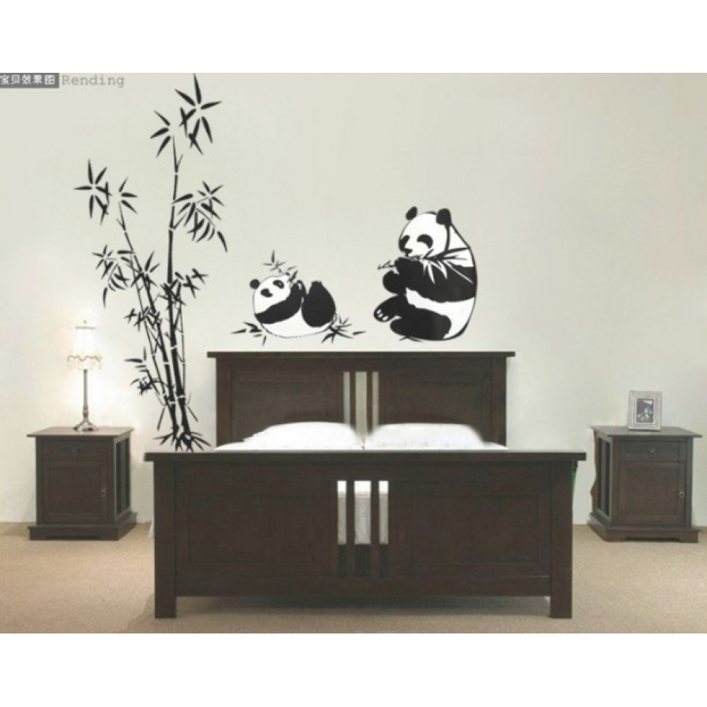Bamboo And Panda Wall Sticker | Wall Art Decals, Vinyl Wall Stickers For Bamboo Wall Art (View 13 of 20)