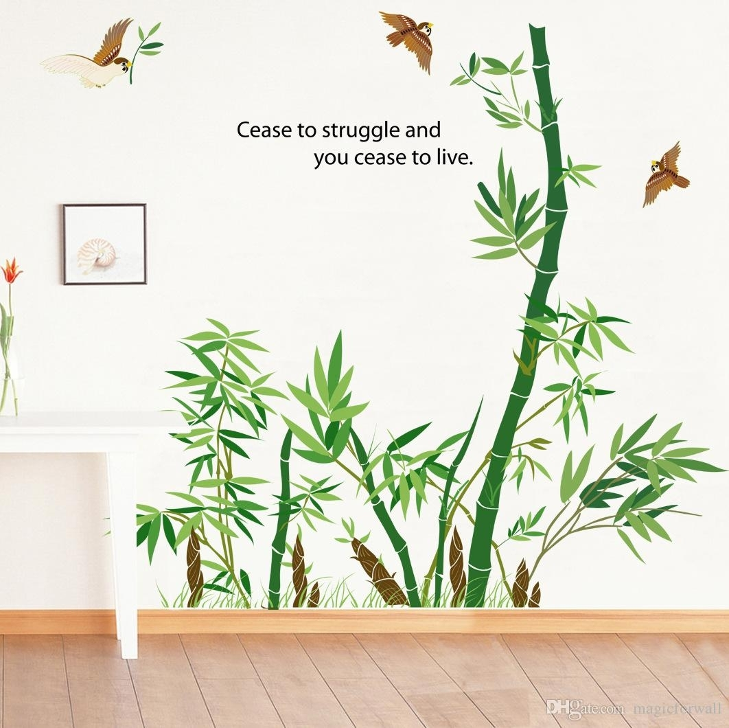 Bamboo Forest Wall Art Mural Decor Cease To Struggle And You Cease With Regard To Bamboo Wall Art (View 3 of 20)