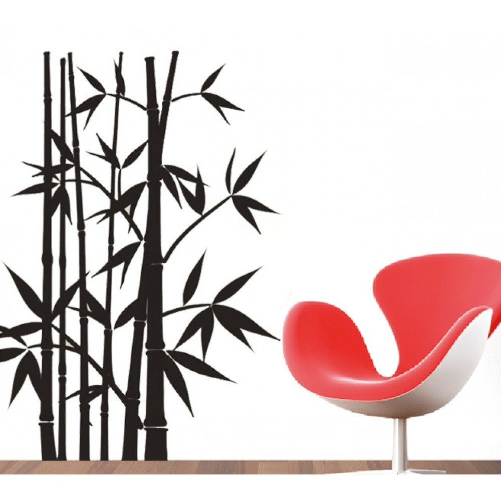 Bamboo Wall Sticker | Wallstickerscool (View 5 of 20)