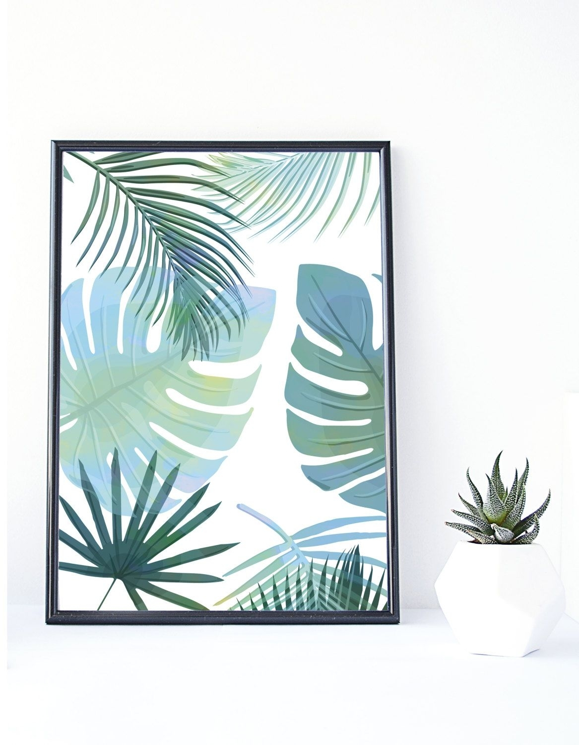 Banana Leaf Print, Tropical Art,instant Download, Palm Print In Tropical Wall Art (View 2 of 20)