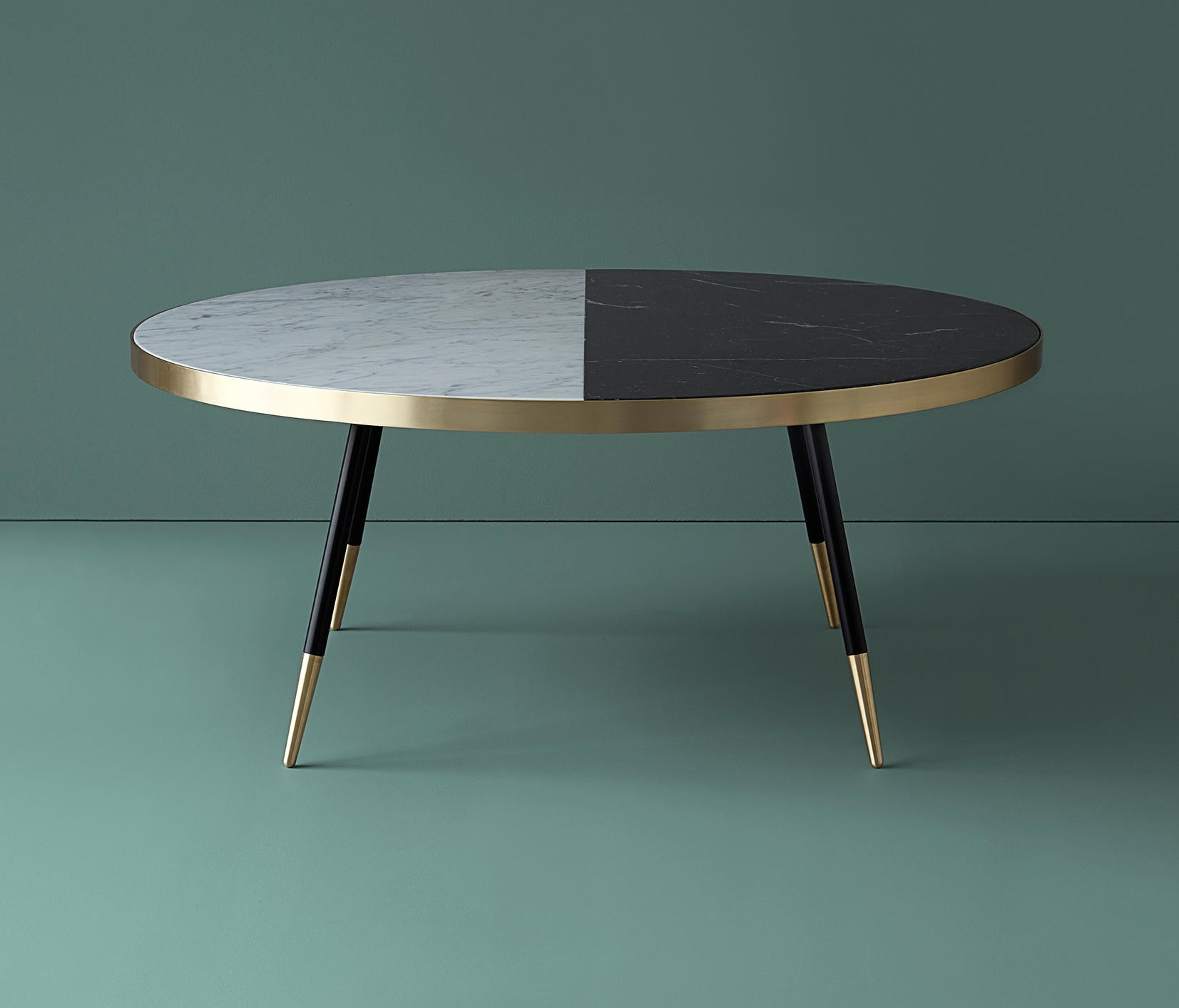 Band Marble Coffee Table - Coffee Tables From Bethan Gray | Architonic inside 2 Tone Grey and White Marble Coffee Tables (Image 2 of 30)