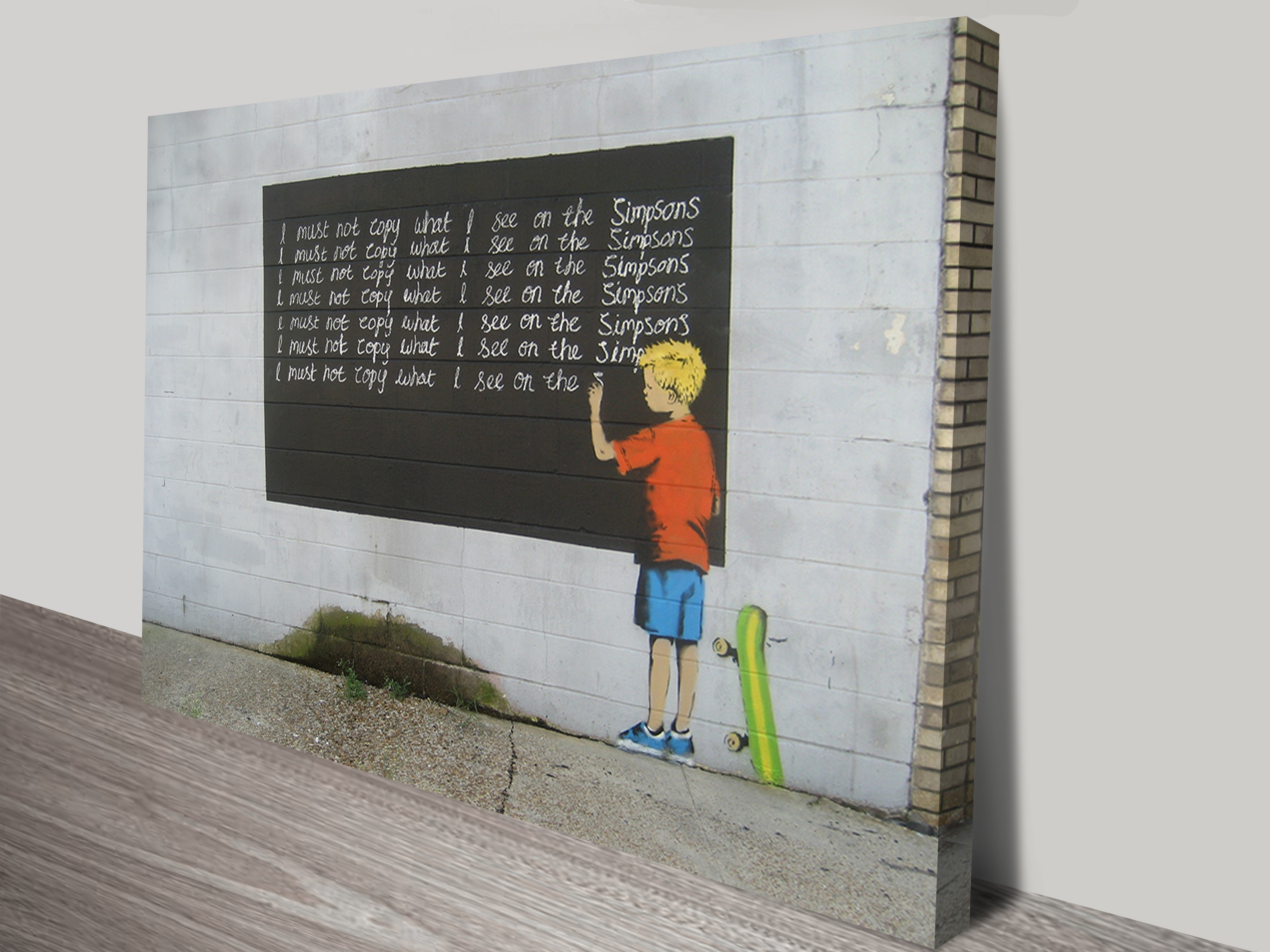 Banksy Simpsons Canvas Art Print Sydney Throughout Wall Art Prints (View 13 of 20)