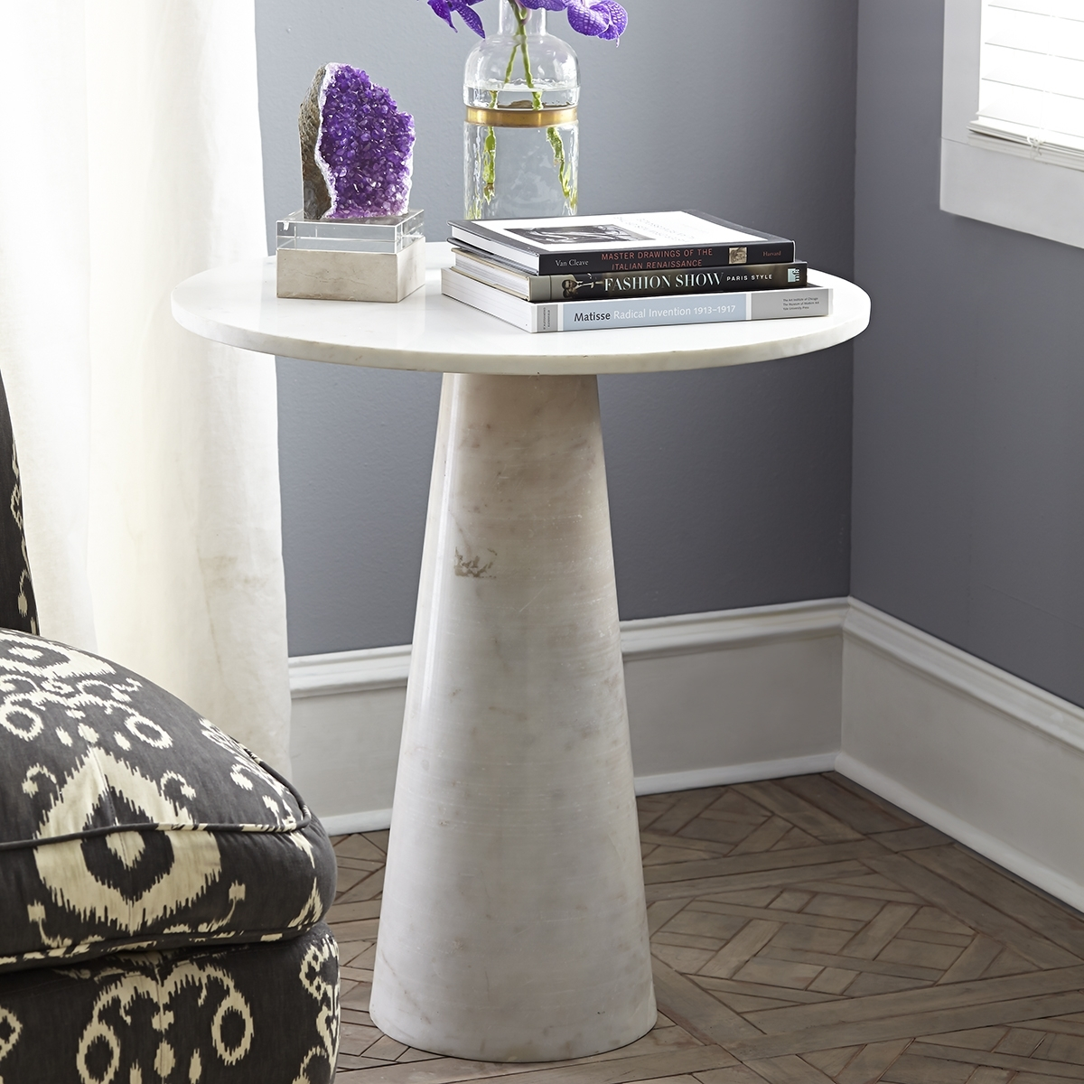 Banswara Marble Side Table | Wisteria With Jackson Marble Side Tables (Image 5 of 30)