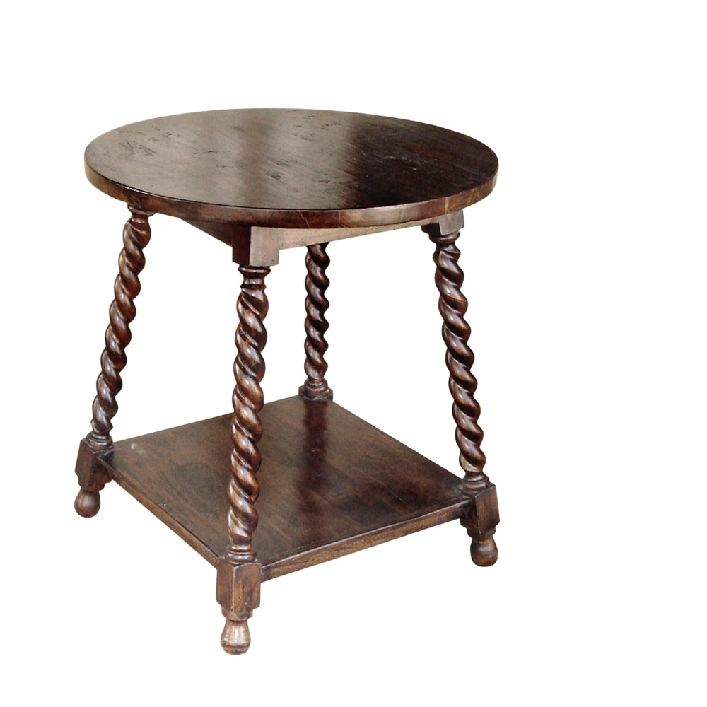 Barley Twist Cricket Table | Laurie's Home Furnishings for Barley Twist Coffee Tables (Image 11 of 30)