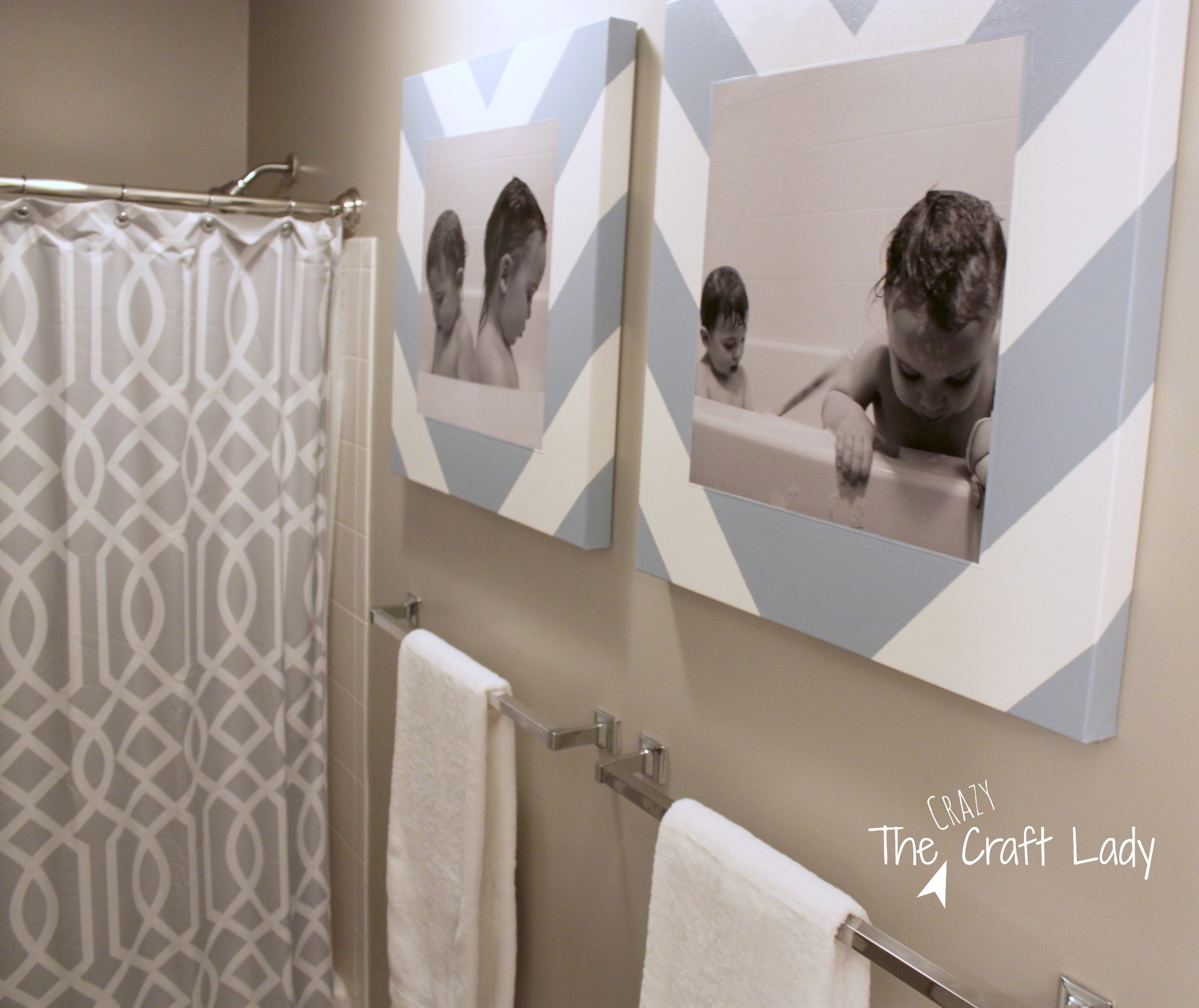 Bath Time Photos And Diy Canvas Prints - The Crazy Craft Lady for Bathroom Canvas Wall Art (Image 2 of 20)