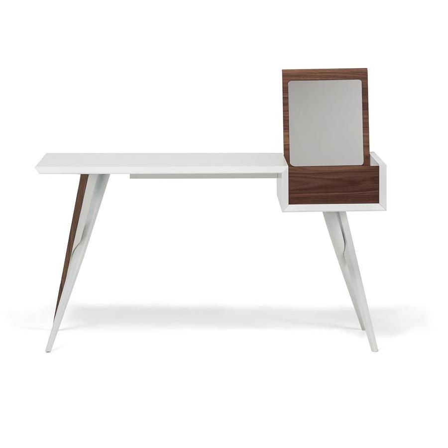 Batik Desk/dresser White & Walnut - Central Living in Batik Coffee Tables (Image 5 of 30)