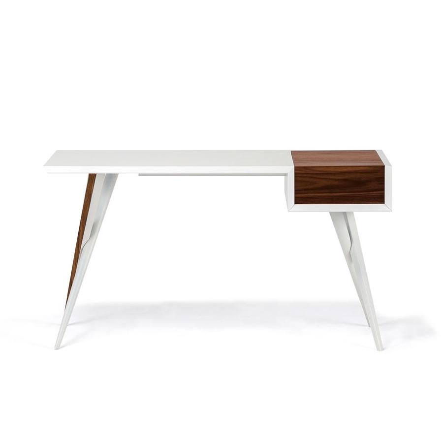 Batik Desk/dresser White & Walnut - Central Living with Batik Coffee Tables (Image 6 of 30)