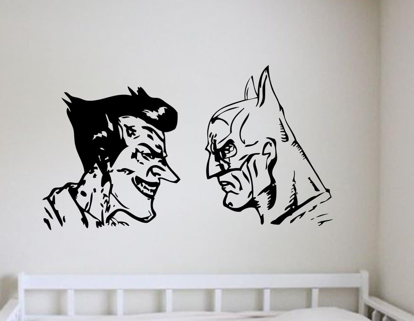 Batman And Joker Wall Art Decal | Wall Decal | Wall Art Regarding Batman Wall Art (View 3 of 20)