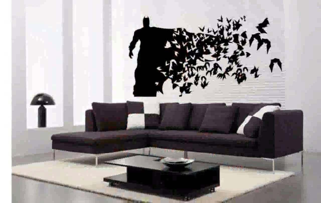 Batman Wall Decals – Youtube Regarding Batman Wall Art (View 18 of 20)