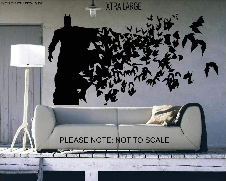 Batman Xtra Large Epic Batman Wall Decals – Wall Decoration And Wall Pertaining To Batman Wall Art (View 4 of 20)