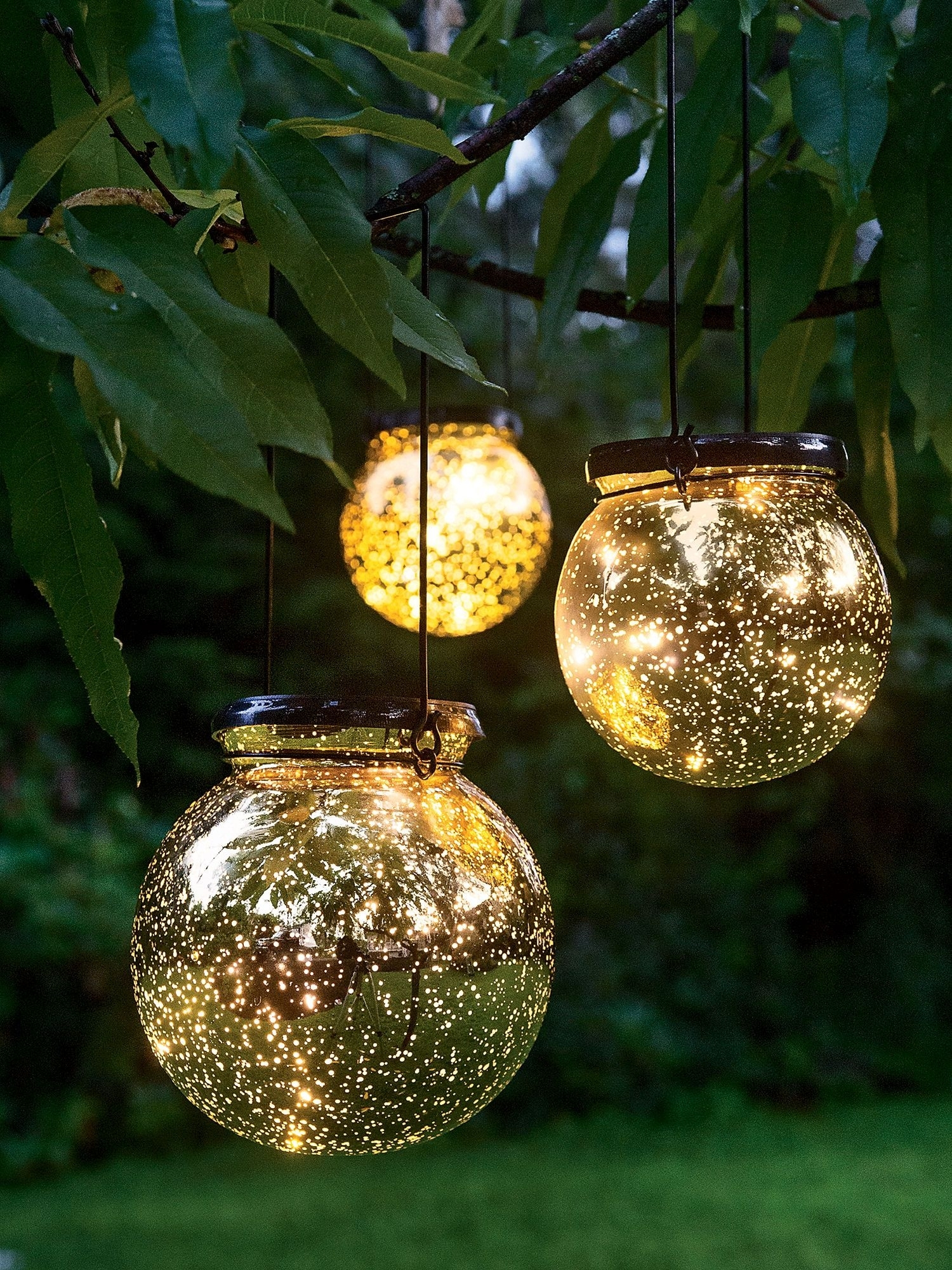 Battery Operated Globe Lights: Led Fairy Dust Ball – Mercury Glass With Outdoor Lanterns With Battery Operated (View 1 of 20)