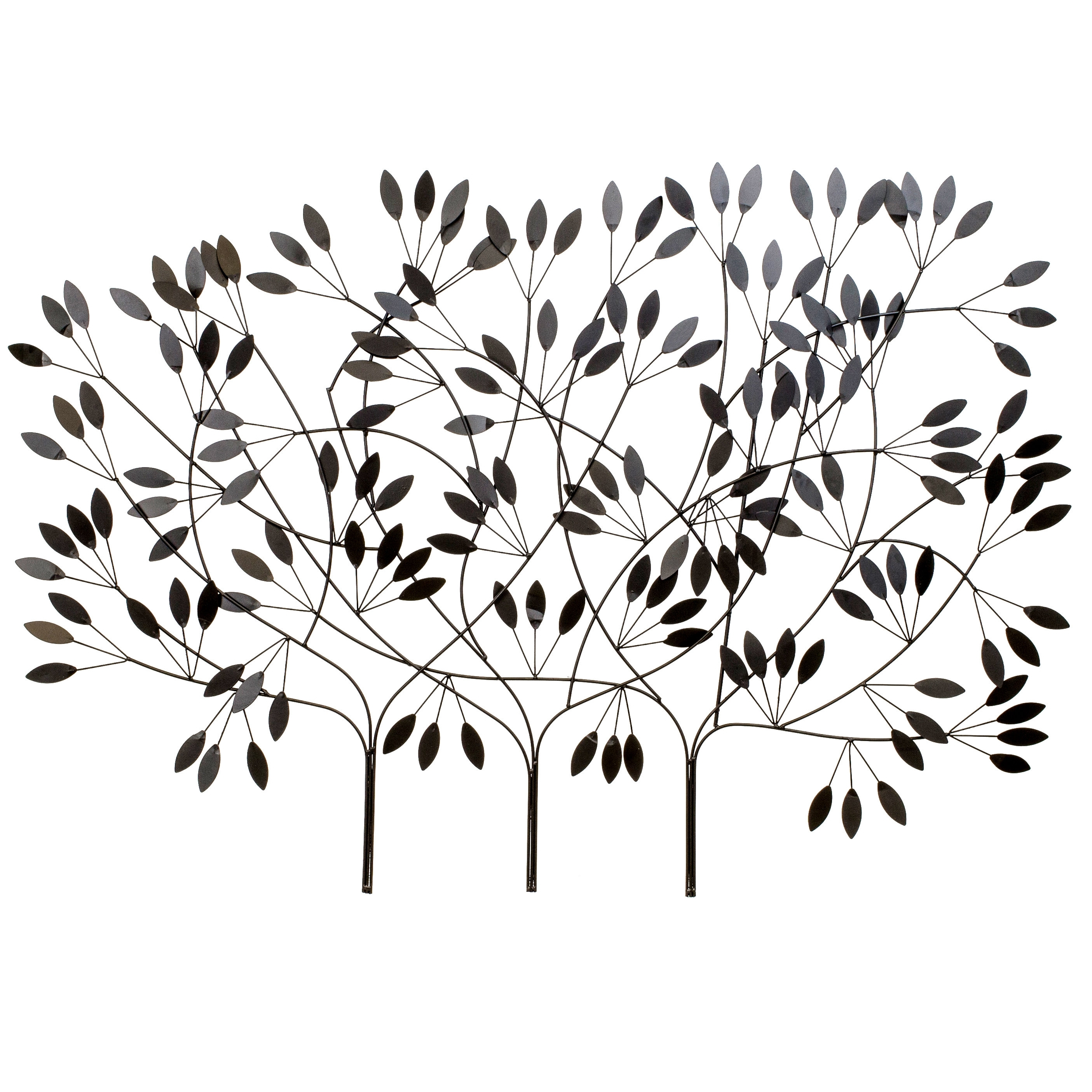 Bayaccents Large Metal Tree Wall Décor | Wayfair for Metal Tree Wall Art (Image 3 of 21)