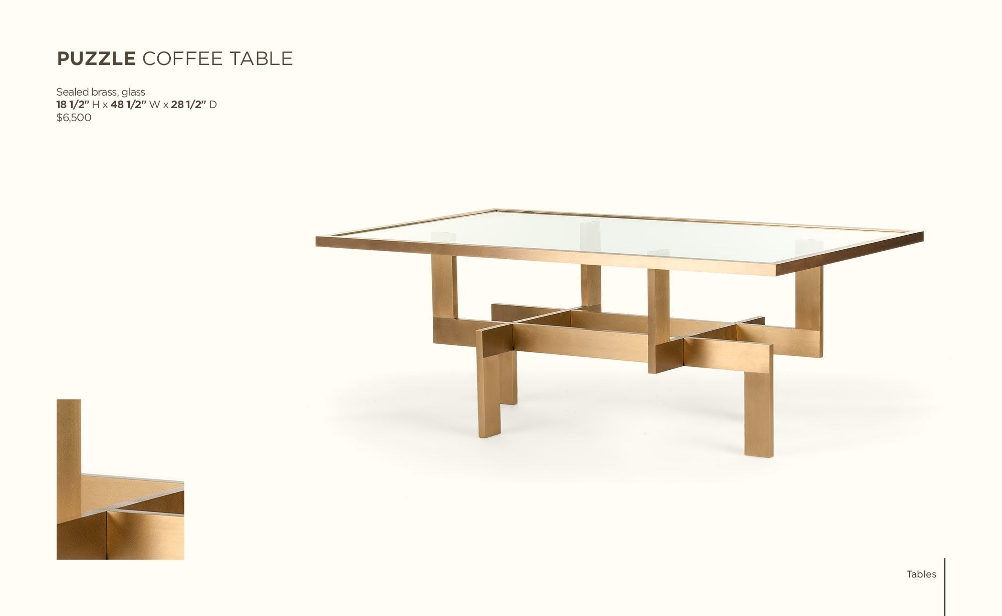 Bc Workshop Catalog / Tables – Blackman Cruz | Coffee Tables with Intertwine Triangle Marble Coffee Tables (Image 5 of 30)
