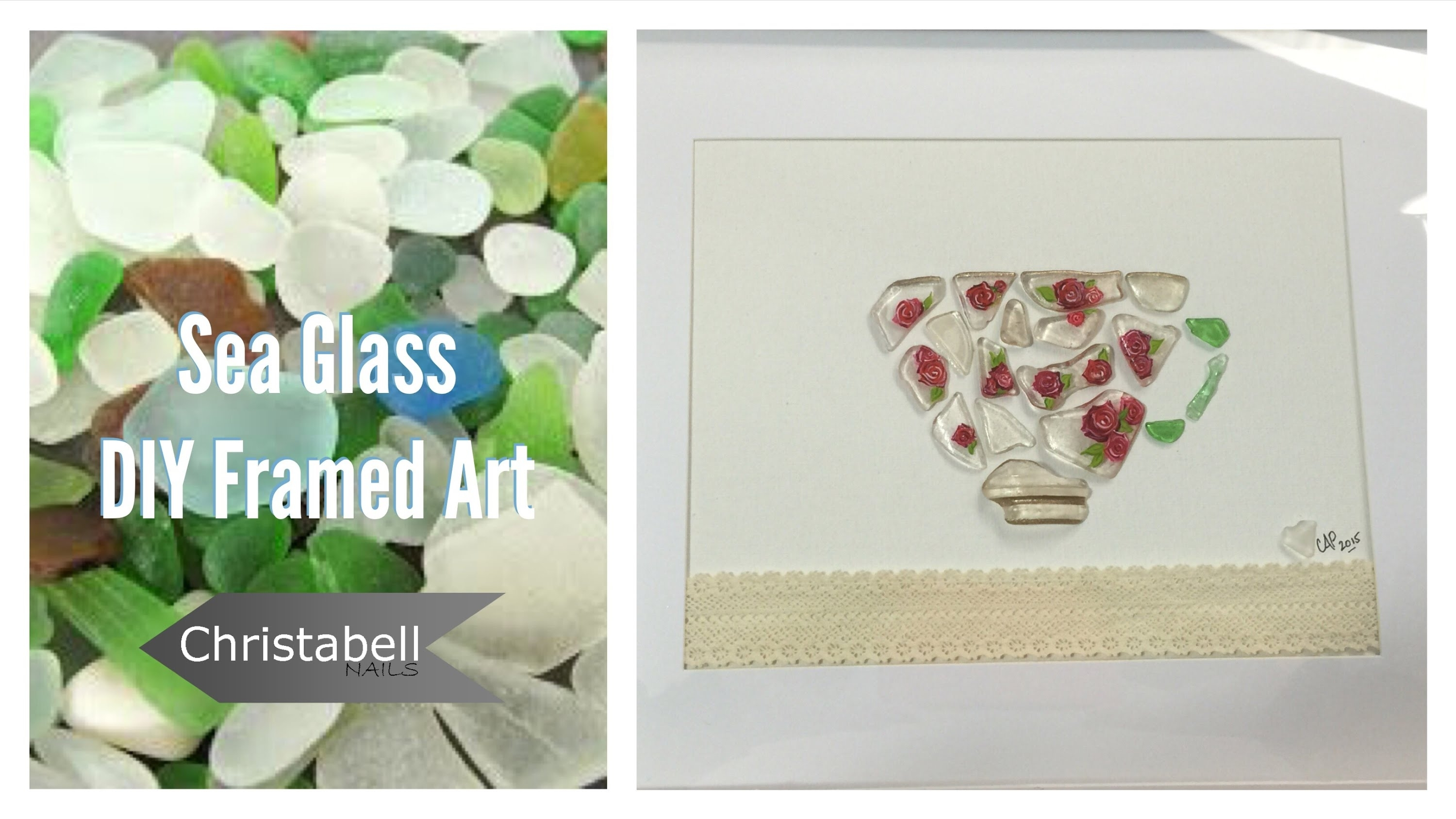 Beach Glass Framed Art – Diy Project – Youtube Pertaining To Sea Glass Wall Art (View 2 of 20)