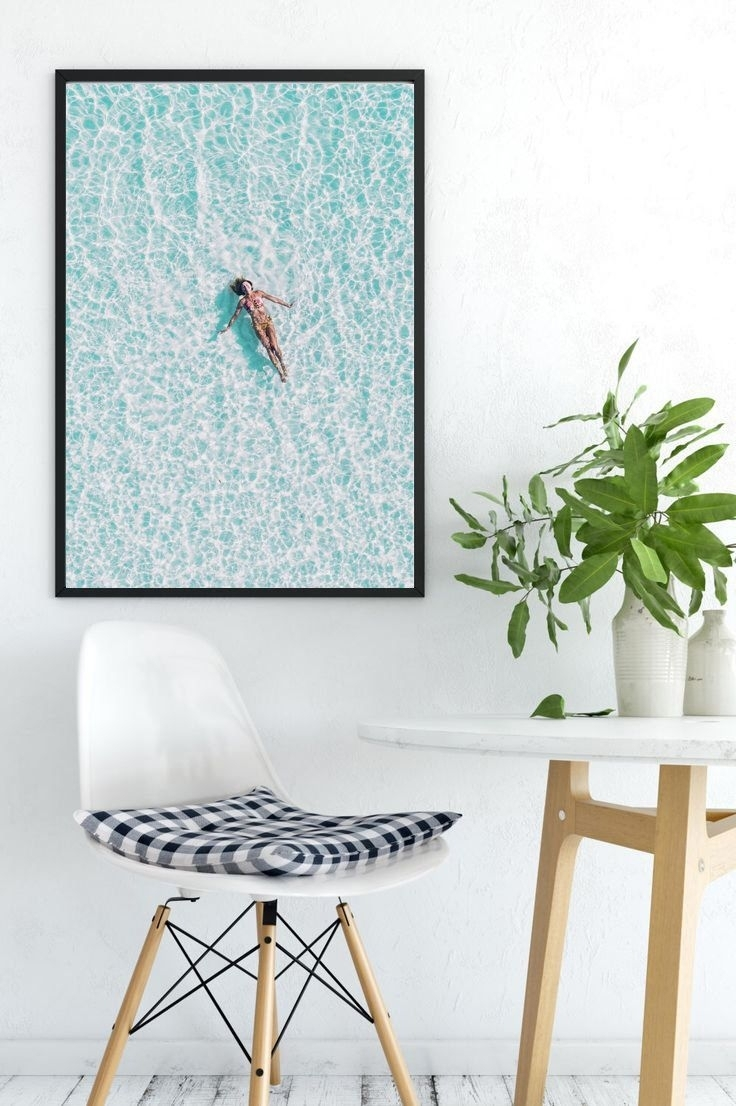 Beach Print, Swimmer Print, Beach Decor, Coastal Prints, Tropical with Coastal Wall Art (Image 4 of 20)