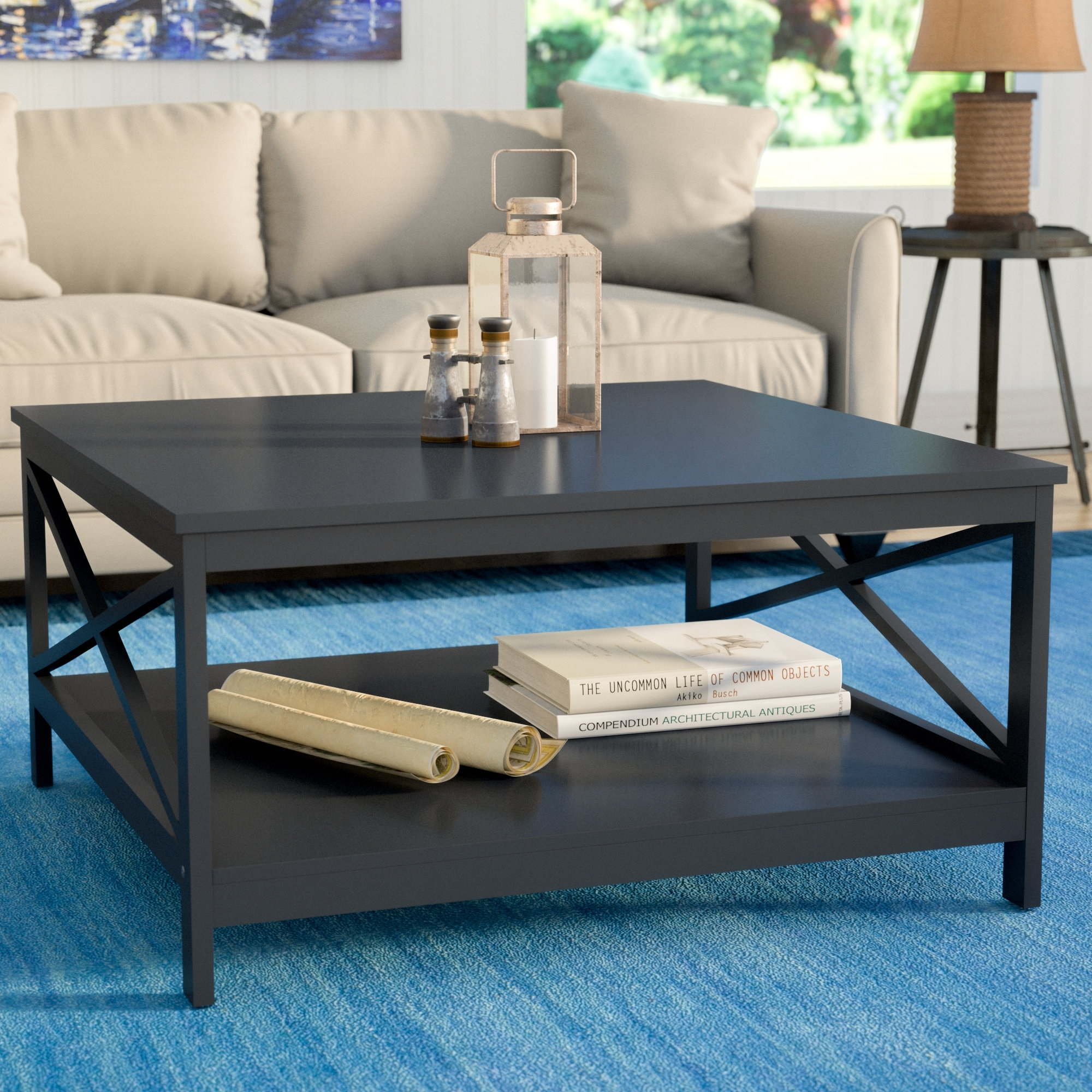 Beachcrest Home Stoneford Traditional Coffee Table & Reviews | Wayfair pertaining to Traditional Coffee Tables (Image 4 of 30)