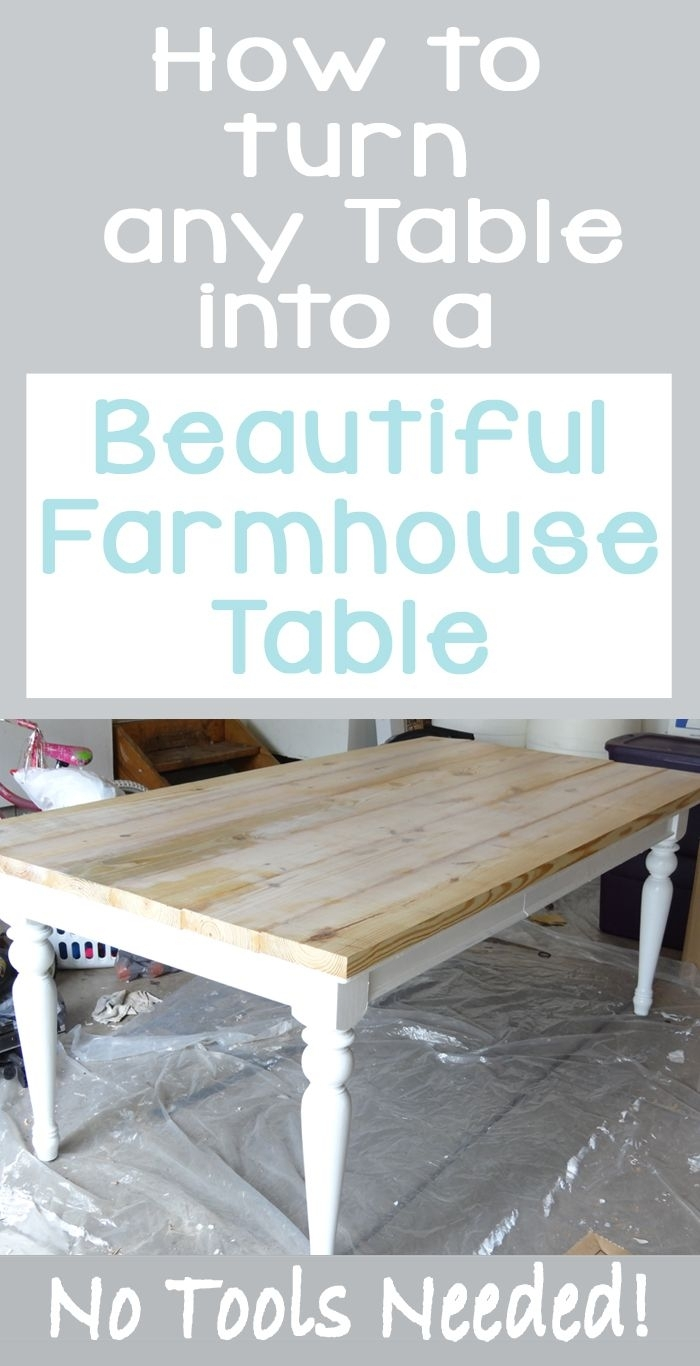 Beat Up Table Turned Beautiful Farmhouse Table In 2018 | Blogger in Jelly Bean Coffee Tables (Image 3 of 30)
