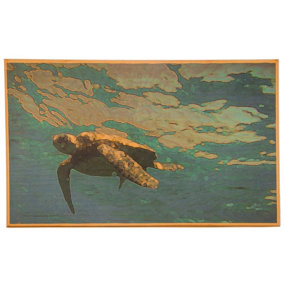 Beautiful 24 In. X 20 In. Wall Art With Sea Turtle Art (View 5 of 20)