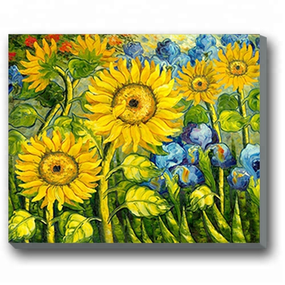 Beautiful Floral Picture Wall Art Sunflower Canvas Painting - Buy with regard to Sunflower Wall Art (Image 4 of 20)