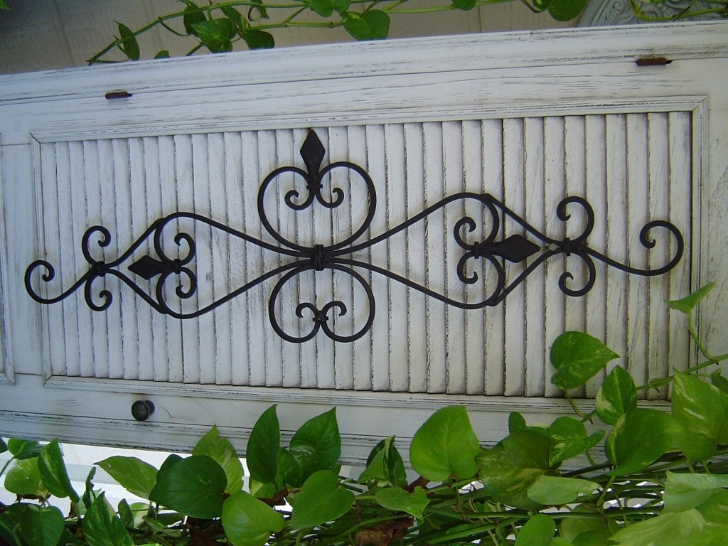 Beautiful Outdoor Iron Wall Art – Megan Burford With Large Outdoor Wall Art (View 14 of 20)