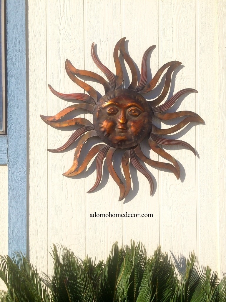 Beautiful Outdoor Metal Sun Wall Decor | Decorating Ideas 2018 intended for Outdoor Sun Wall Art (Image 1 of 20)