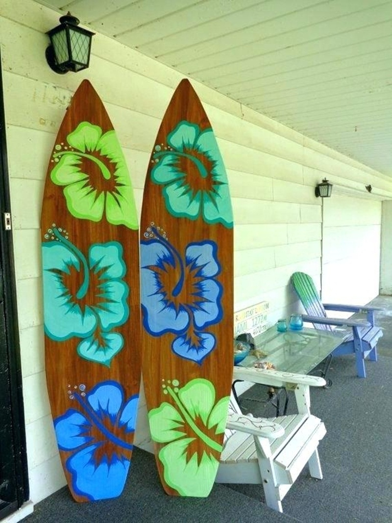 Beautiful Surfboard Wall Art : Andrews Living Arts – Beach Surfboard Pertaining To Surfboard Wall Art (View 1 of 20)