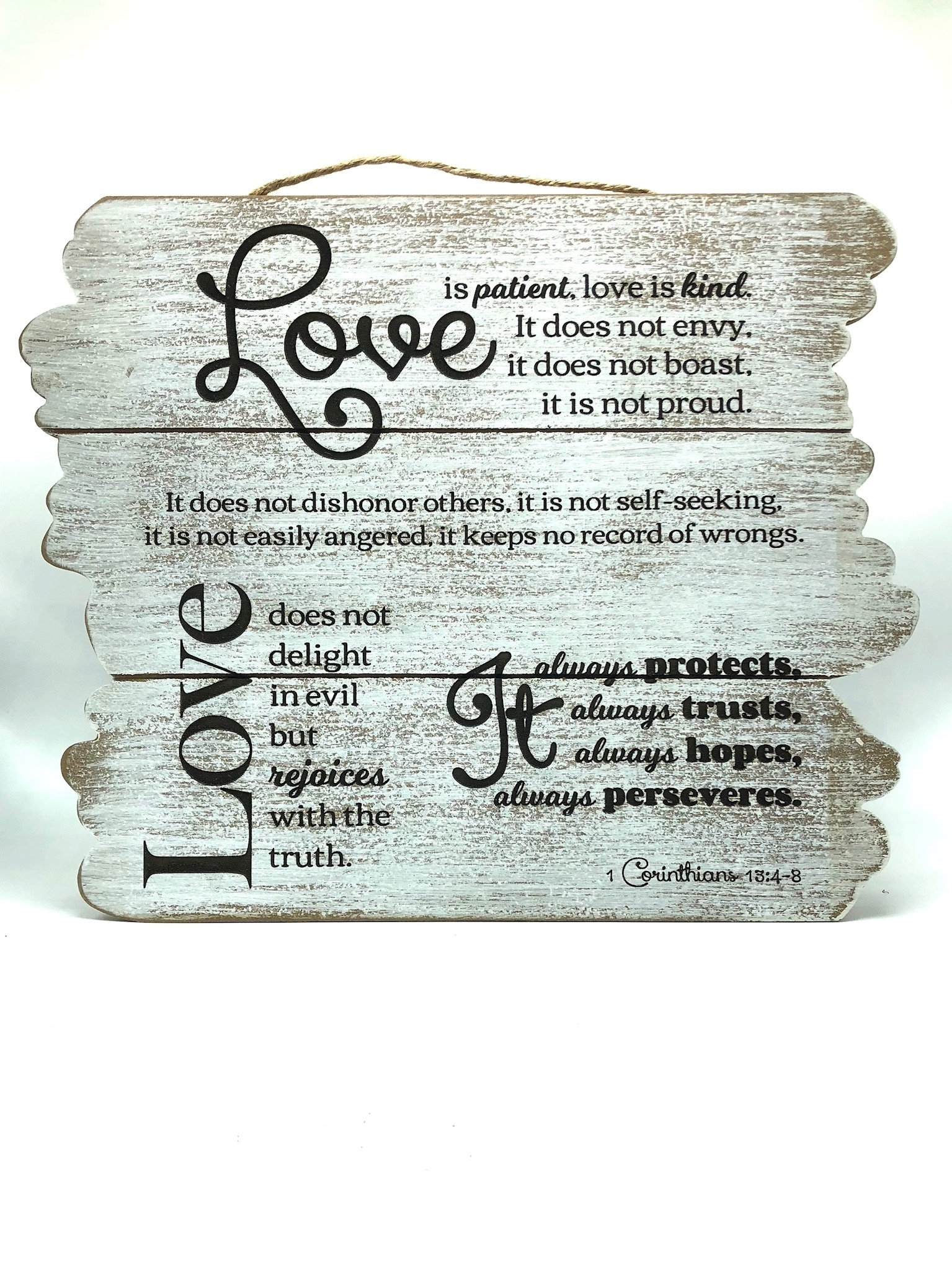 Beautiful Wall Art – Love Is Patient (wooden Planks) | Fl Unique Within Love Is Patient Wall Art (View 11 of 20)