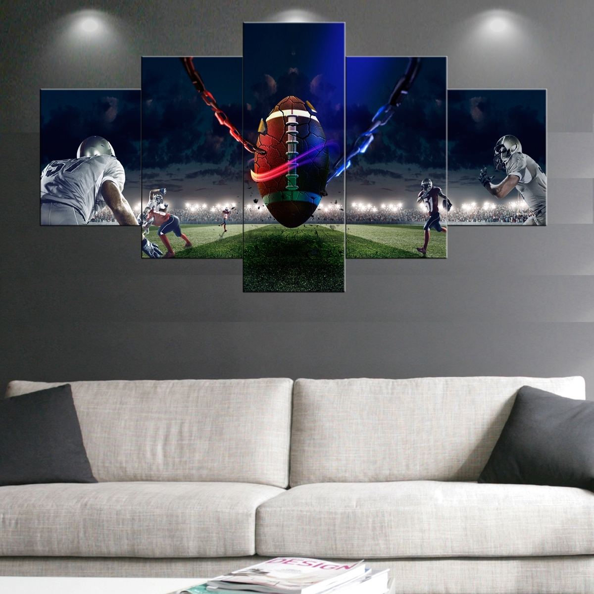 Beautifully Idea Sports Canvas Wall Art – Ishlepark For Sports Wall Art (View 5 of 20)