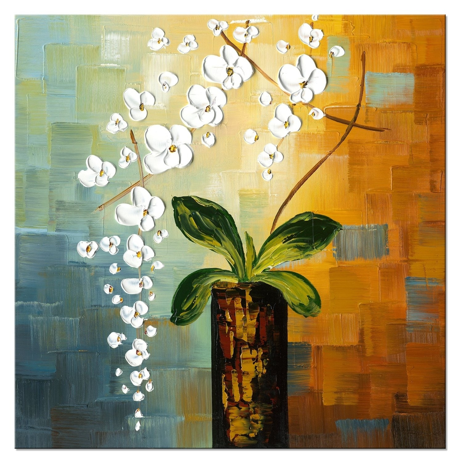 Beauty Of Life-Modern Canvas Art Wall Decor-Floral Oil Painting Wall with Wall Art Paintings (Image 10 of 20)