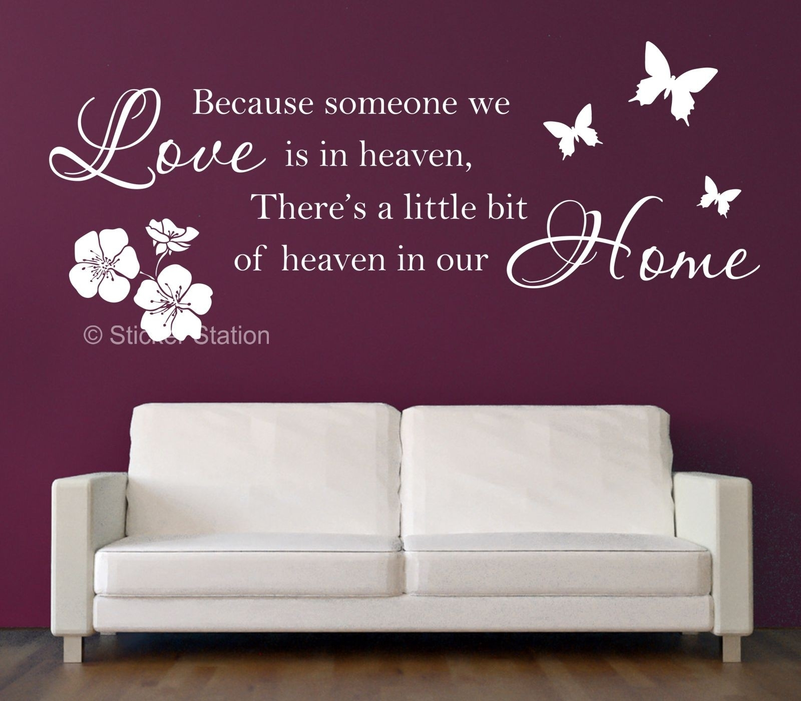 Because Someone We Love Is In Heaven Inspirational Wall Art Sticker Intended For Wall Art Stickers (View 12 of 20)