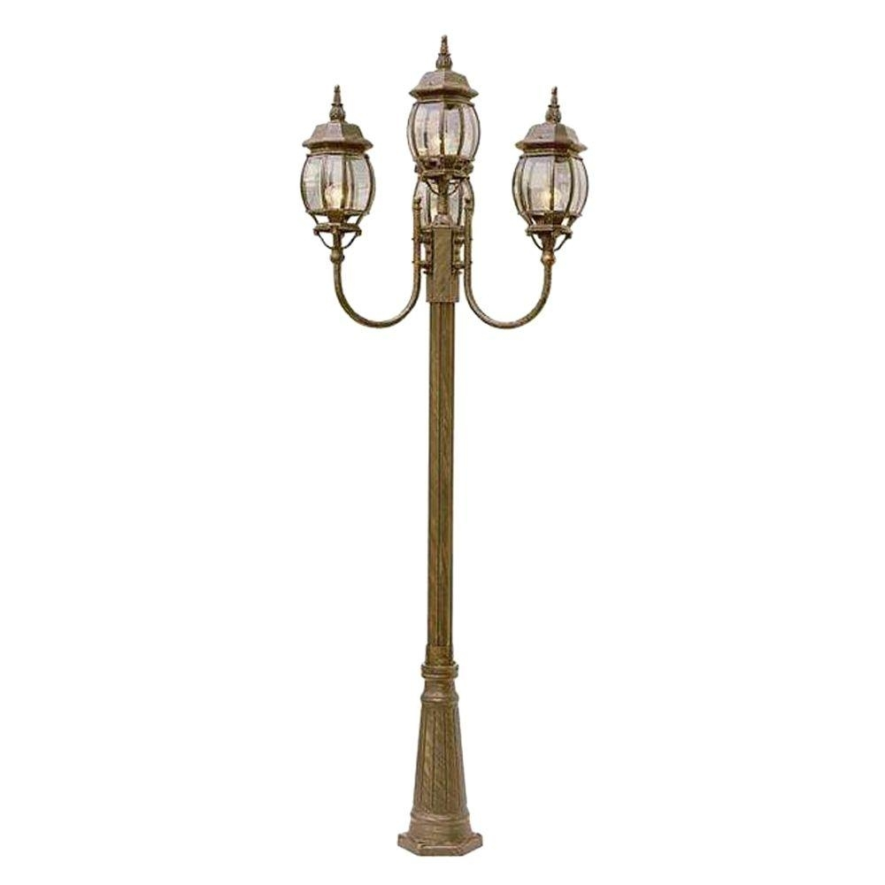Bel Air Lighting Cabernet Collection 4 Light 96 In. Outdoor Black intended for Outdoor Pole Lanterns (Image 5 of 20)