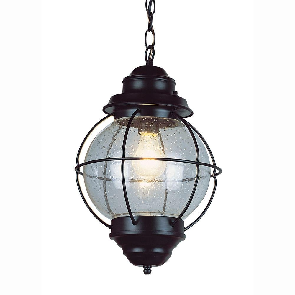 Bel Air Lighting Lighthouse 1-Light Outdoor Hanging Black Lantern for Outdoor Hanging Japanese Lanterns (Image 4 of 20)