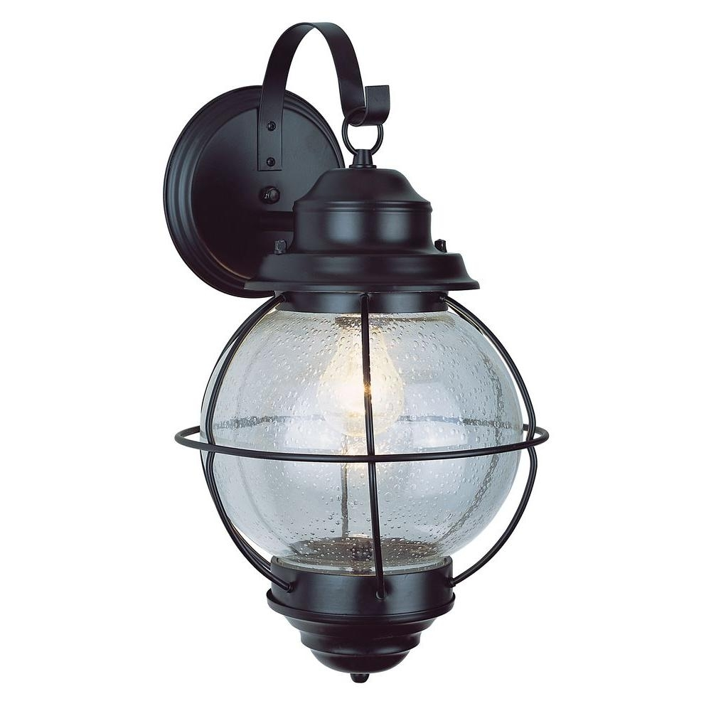 Bel Air Lighting Lighthouse 1-Light Outdoor Rustic Bronze Coach regarding Outdoor Nautical Lanterns (Image 2 of 20)