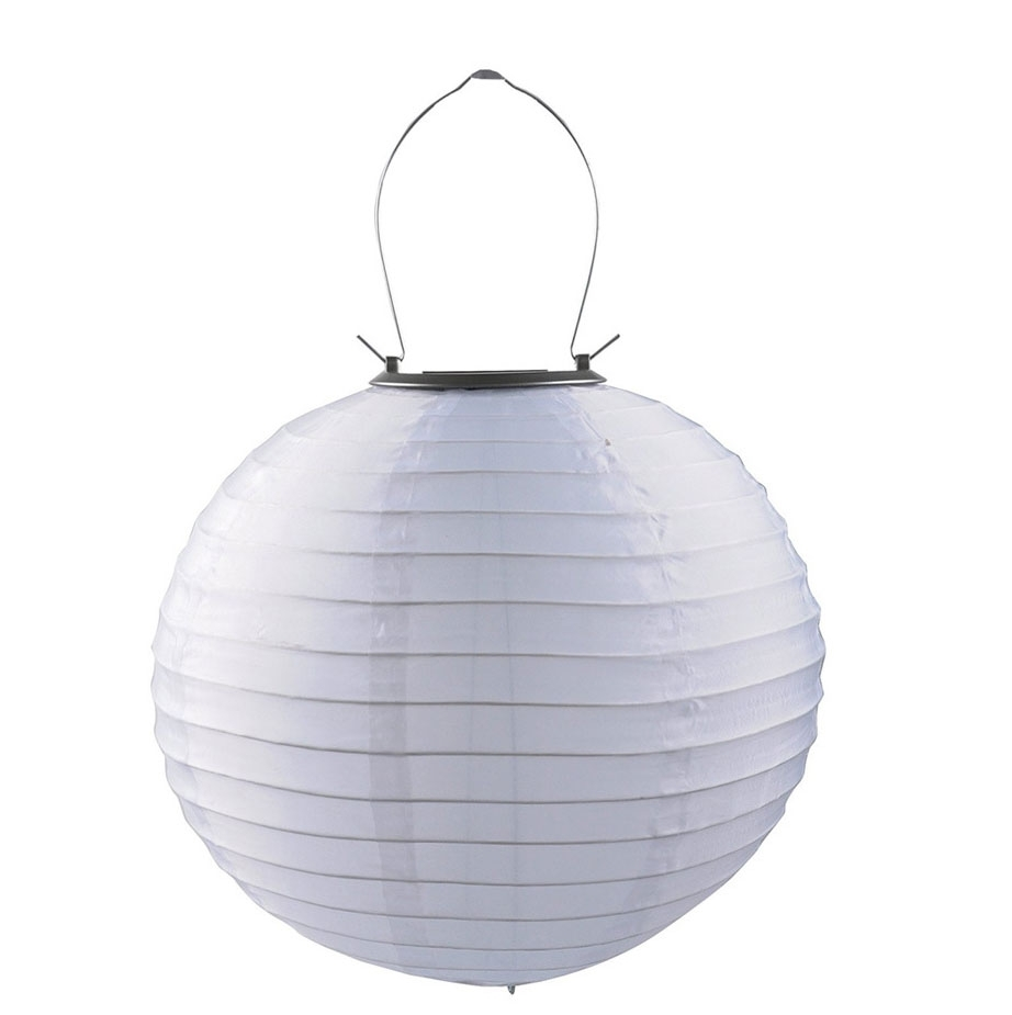 Best 10 Inch Nylon White Solar Powered Chinese Lantern For Outdoor throughout Outdoor Nylon Lanterns (Image 3 of 20)