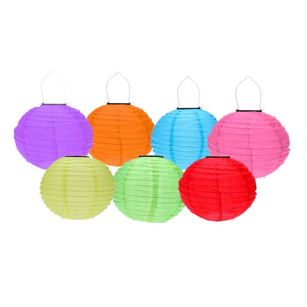Best 10 Inch Orange Outdoor Solar Powered Chinese Lantern Sale For in Outdoor Orange Lanterns (Image 4 of 20)
