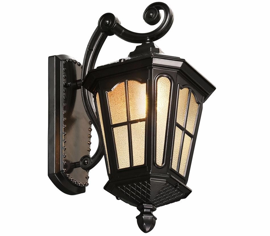 Best Antique Rustic Iron Waterproof Outdoor Wall Lamp Vintage pertaining to Outdoor Kerosene Lanterns (Image 5 of 20)