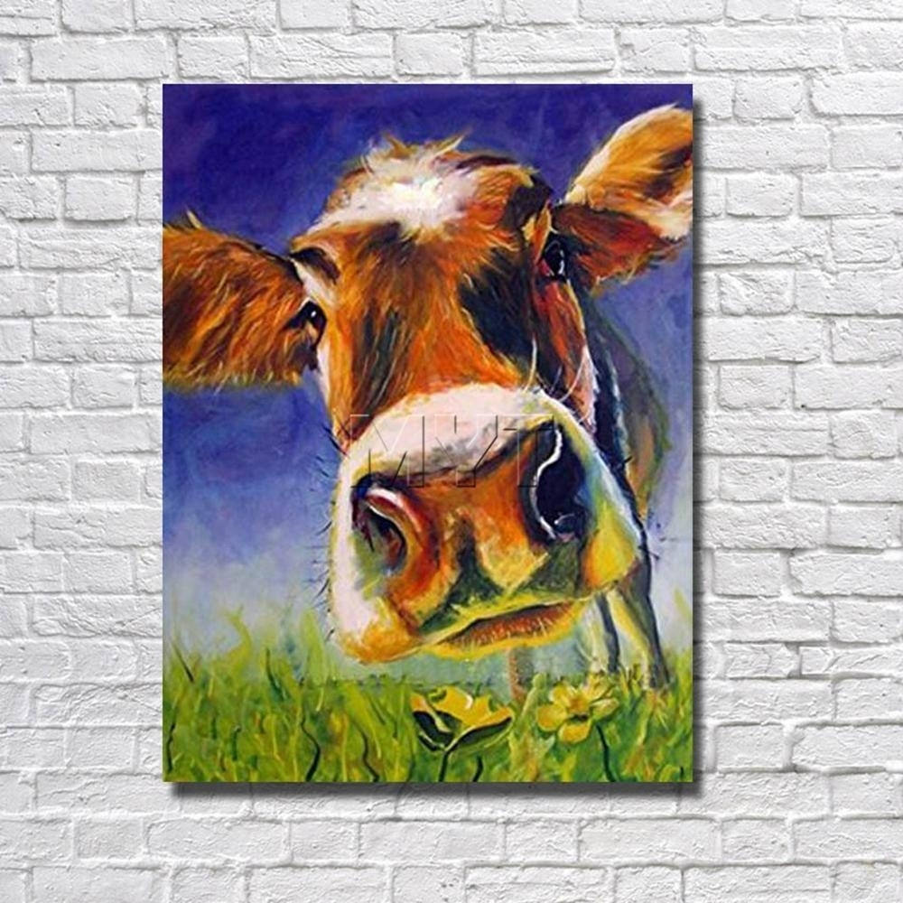 Popular Photo of Cow Canvas Wall Art