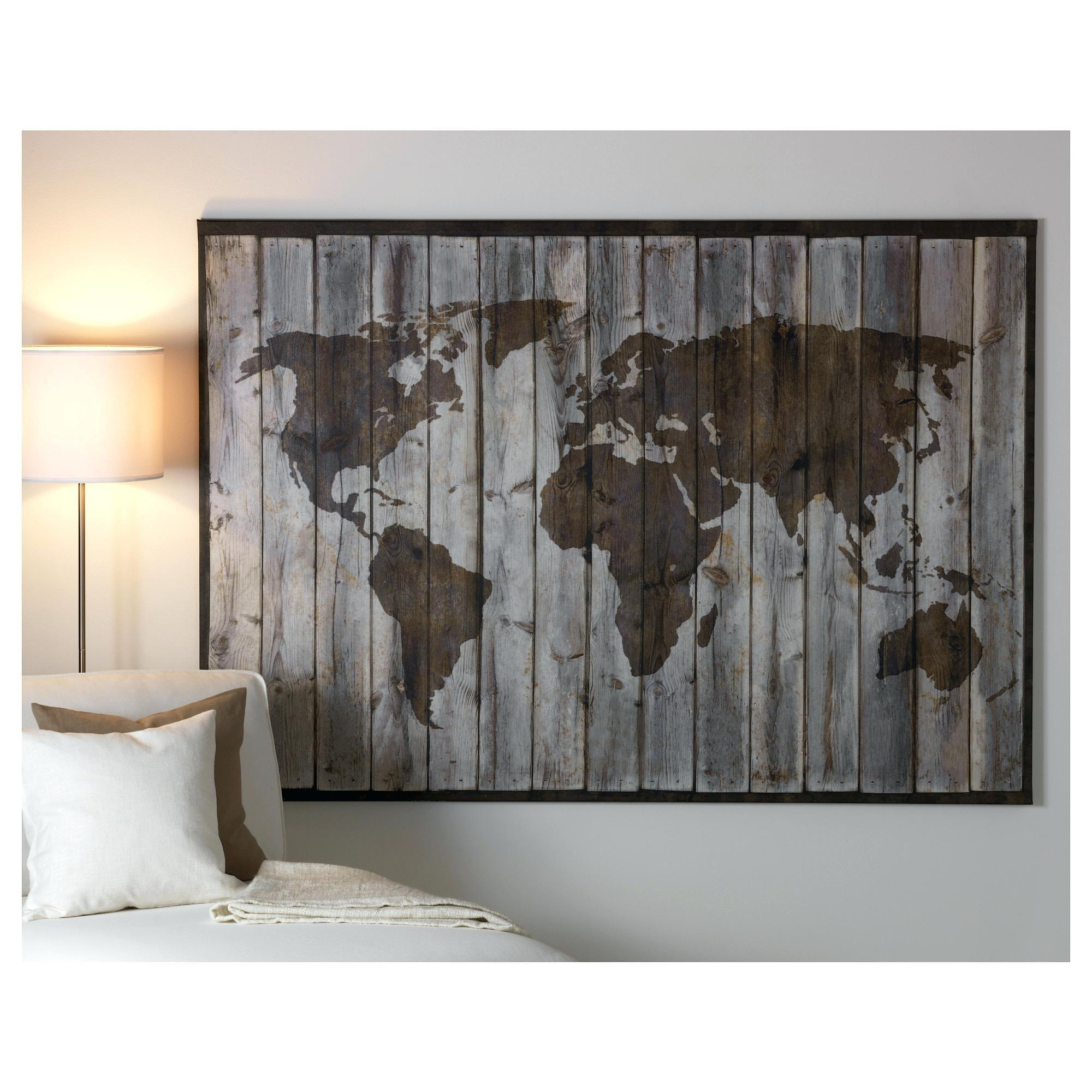 Best Ikea Wall Decoration Ready To Hang Posters Art World Map Canvas with regard to Ikea Canvas Wall Art (Image 5 of 20)